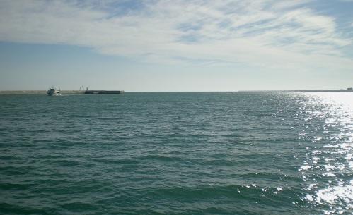 Middellandse Zee, Havenmond Barcelona, 15 februari 2014, 14:35 u.