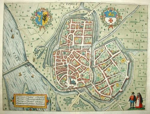 Kaart van Zutphen, editie Blaeu