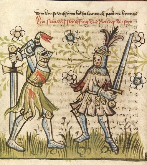 Bron: Universitätsbibliothek Heidelberg, Cod. Pal. germ. 359; Rosengarten zu Worms