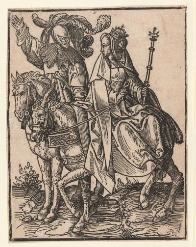 Graaf Willem IV en zijn zuster Margaretha van Beieren, 'die keizerinne', want ze was gehuwd met de Duitse keizer Lodewijk. Zij nam in 1345 de macht in Holland van haar broer over.