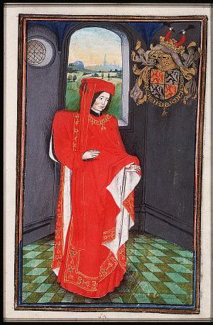 Reinoud II van Brederode (1415-1473) in zijn officiële gewaad van ridder van het Gulden Vlies.